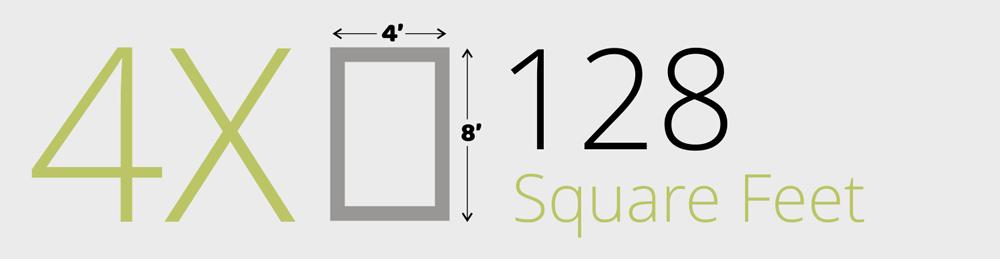 128 Square Feet 128-SQFT