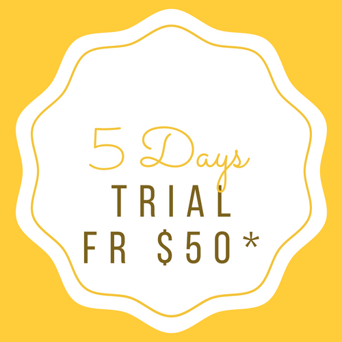 5 Days Trial (CONSECUTIVE DAYS) 5 Days Trial