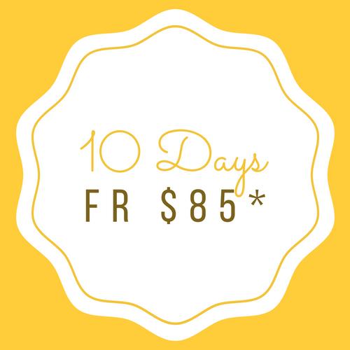 10 Days (5 days week) 10 Days