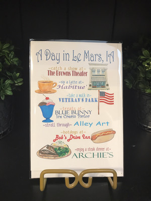 A Day In Le Mars Greeting Card
