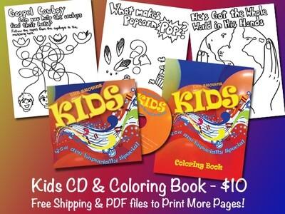 Kids CD & Coloring Book!