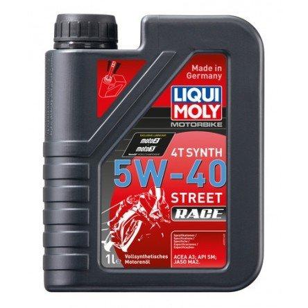 Liqui Moly Motorbike 4T Synth 5W-40 Street Race 1 Litro   ACEA A3, API SM, JASO MA2