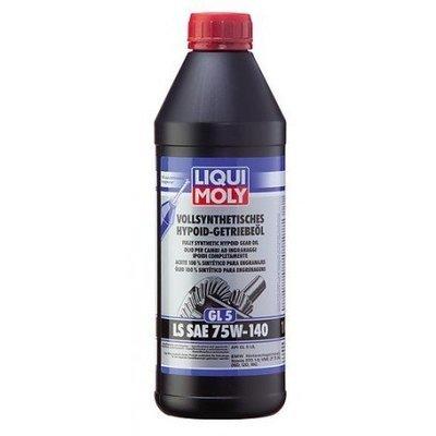 Liqui Moly Vollsynthetisches Hypoid Getriebeöl (GL5) LS SAE 75W-140 | Aceite 100 % sintético para engranajes hipoides (GL5) LS SAE 75W-140 1 Litro | Para corona