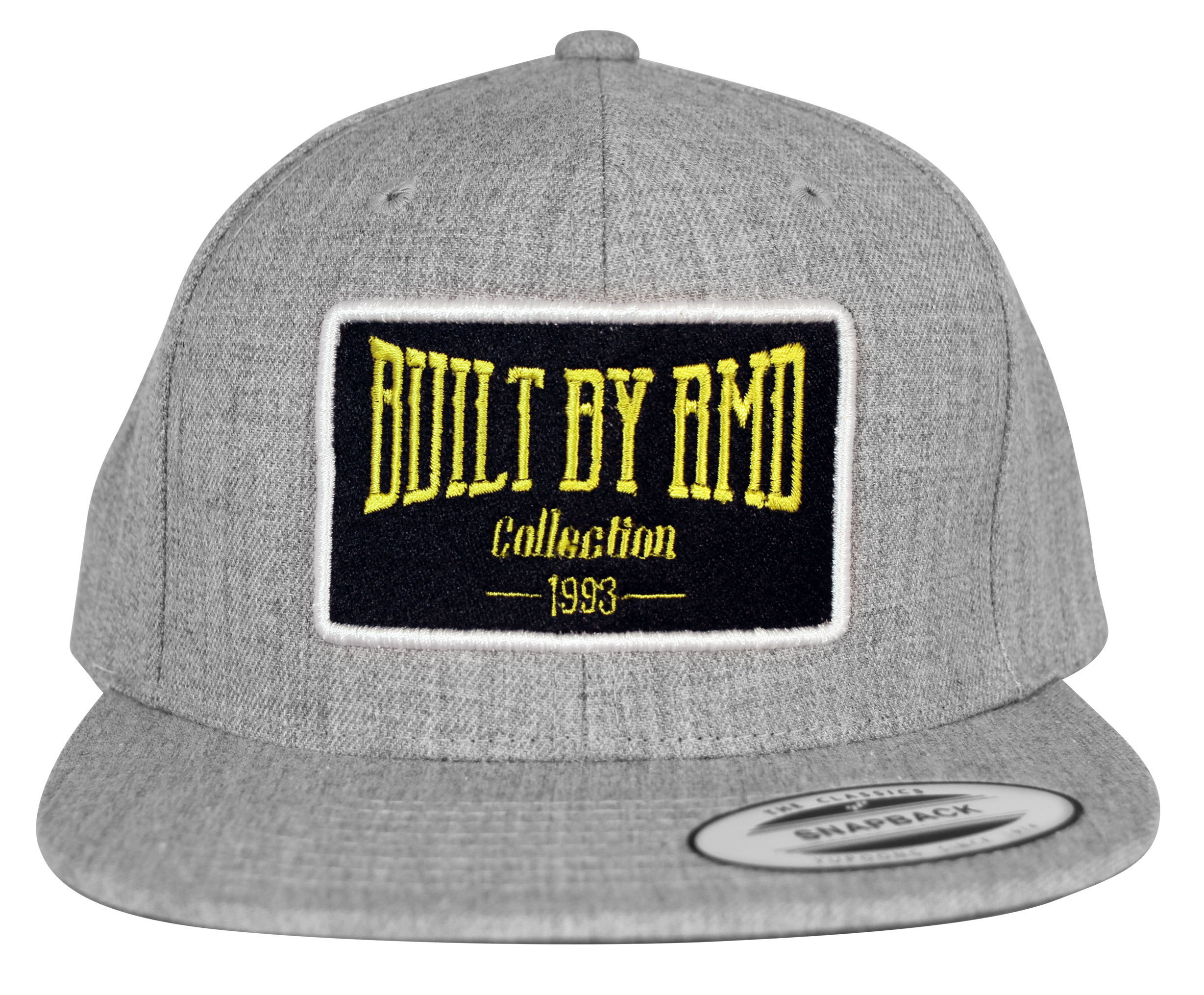 Built By RMD Yellow on Grey Snap Back 001R1800SBGY