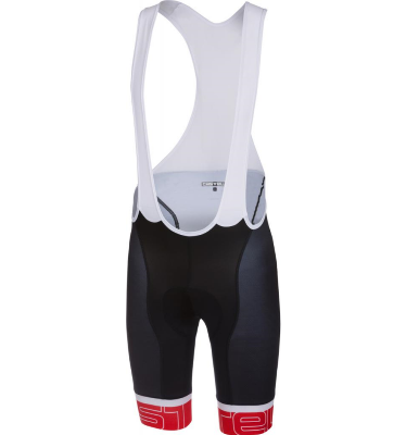 Castelli Volo Bibshort Black/red