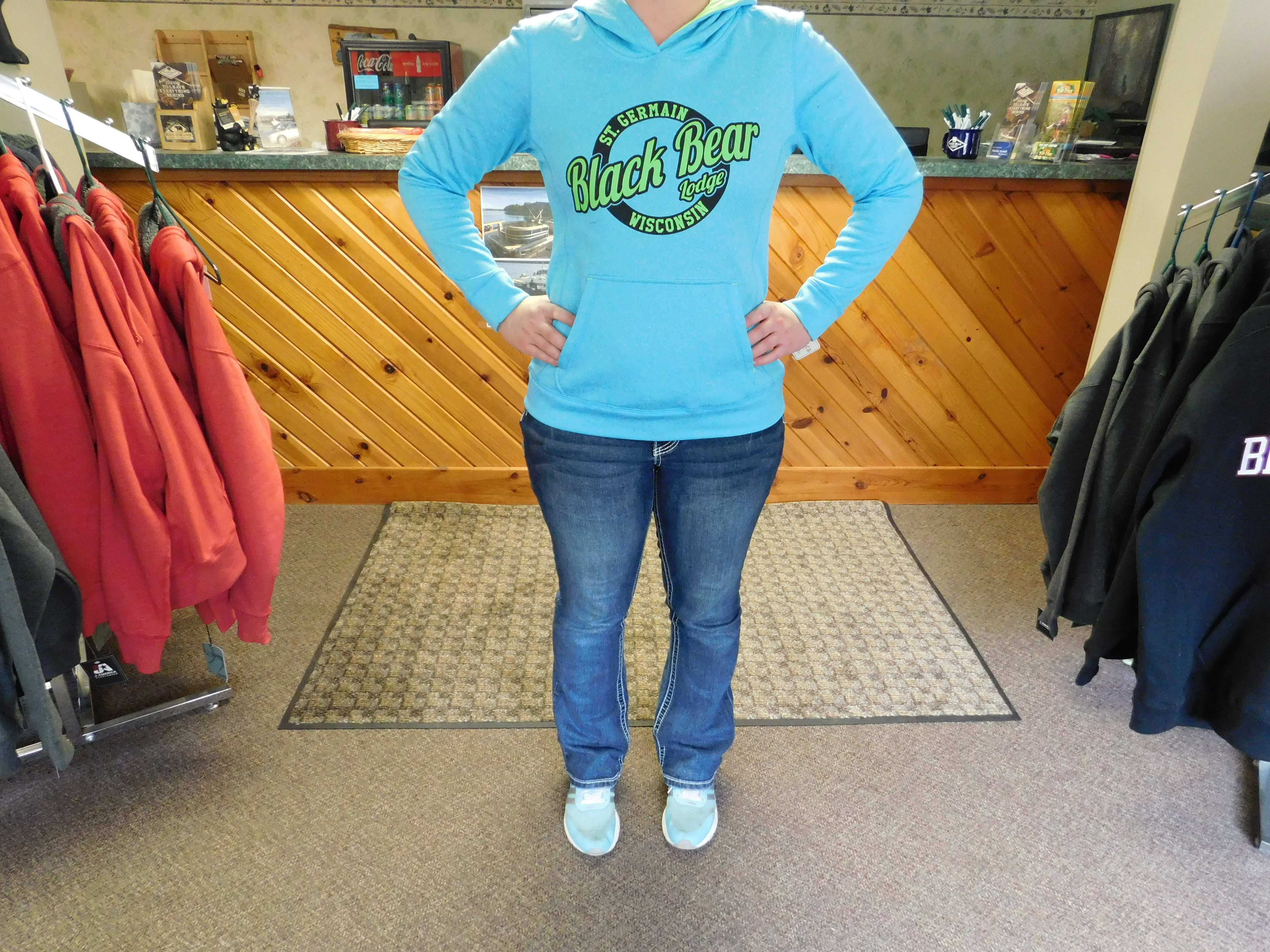 BBL Blue & Lime Green Pullover Hoodie 00006