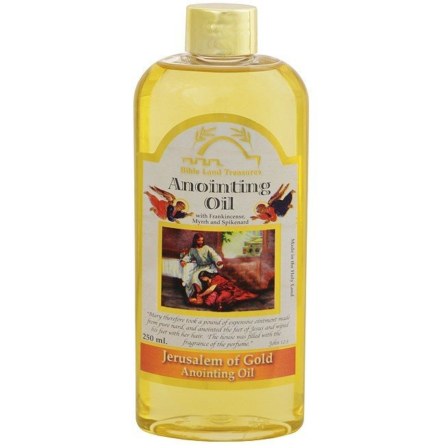 Anointing Oil - Large 250 ML ( Jerusalem Gold ) 90018