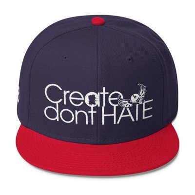 Create dont HATE Snapback-Dark