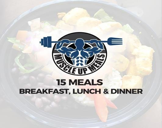 15 Assorted Meals - Breakfast / Lunch / Dinner