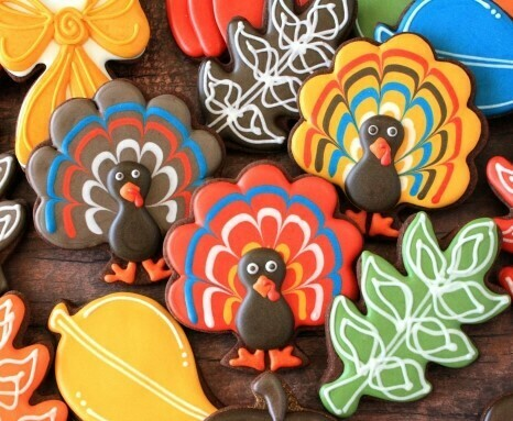 'Turkey' Decorating Workshop - SATURDAY, NOVEMBER 16th at 6:00 p.m. (THE COOKIE DECORATING STUDIO)