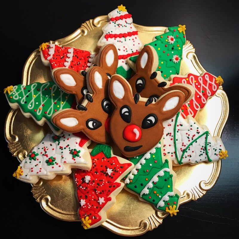 'Rudolph Christmas' Decorating Workshop - MONDAY, DECEMBER 23rd at 6:30 p.m. (THE COOKIE DECORATING STUDIO)