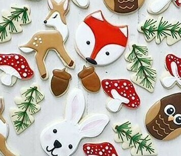 'Woodland Winter' Decorating Workshop - MONDAY, DECEMBER 30th at 6:30 p.m. (THE COOKIE DECORATING STUDIO)