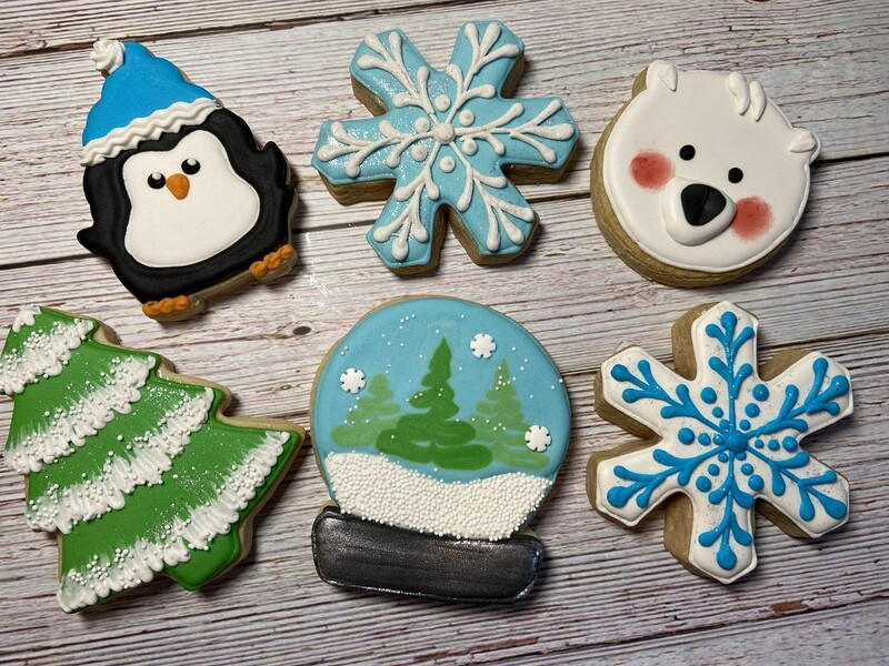 'Snow Globe' Decorating Workshop - FRIDAY, JANUARY 24th at 6:30 p.m. (THE COOKIE DECORATING STUDIO)
