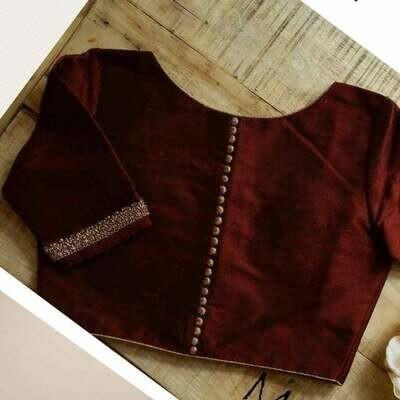 High neck blouse with potlis. Rich and elegant | Saree Blouse Design 198