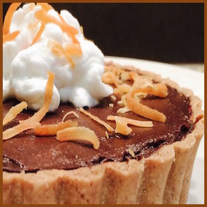 Chocolate Tart With Whipped Coconut Cream, 8