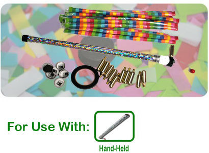 Handheld Confetti Launcher Kit - 10 Reloads Included 000010