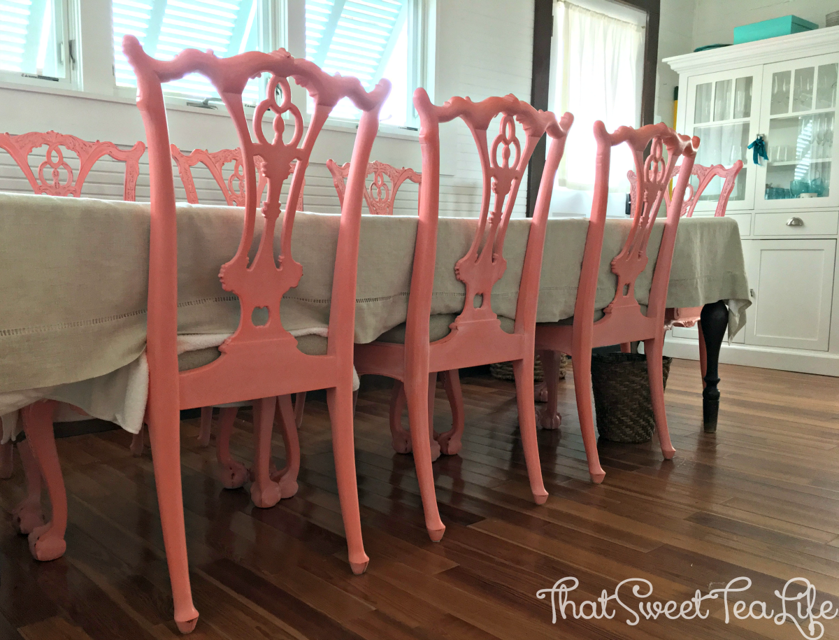 Coral Chippendale Chairs
