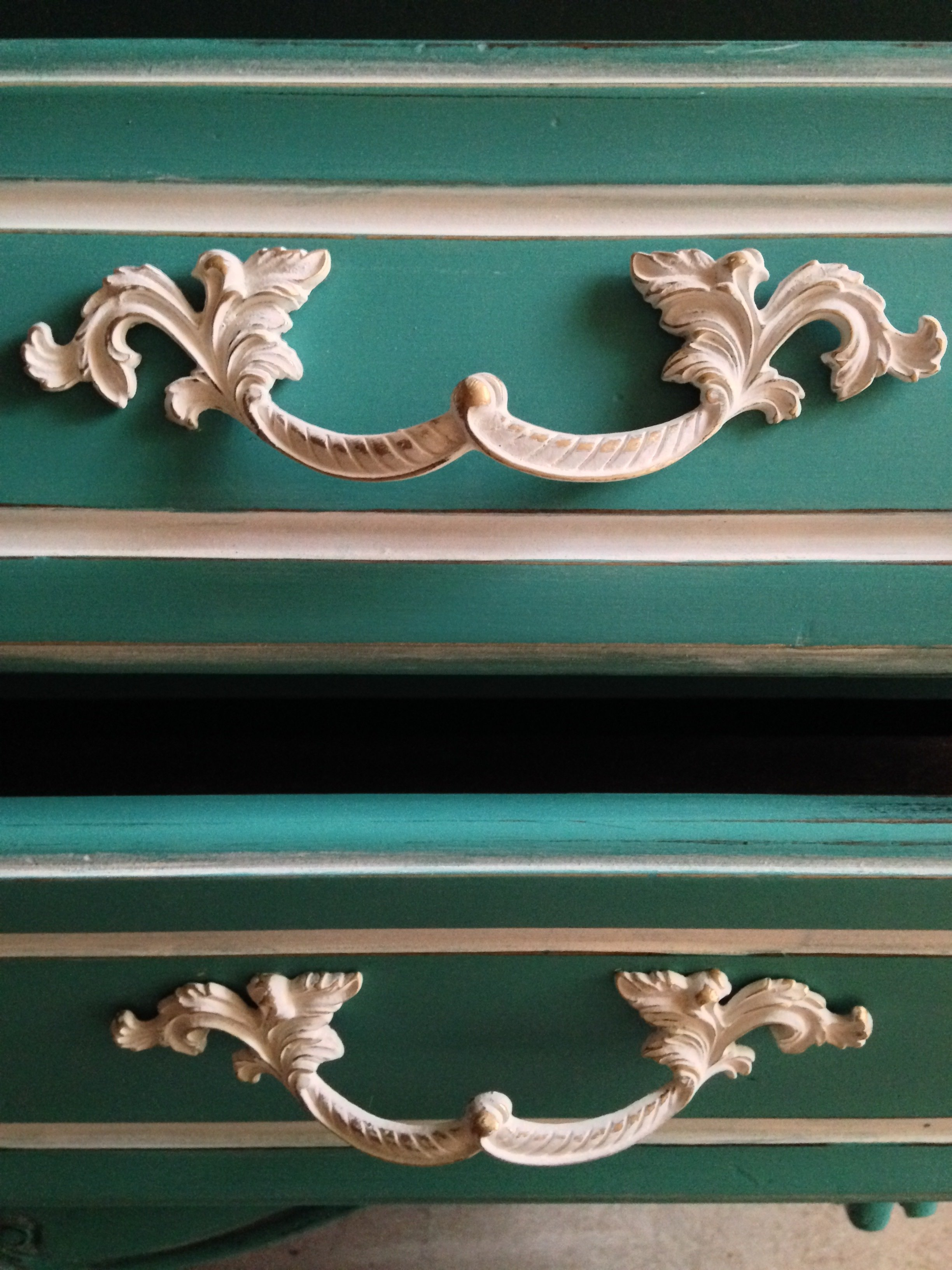 Coastal Patina Bombe Chest