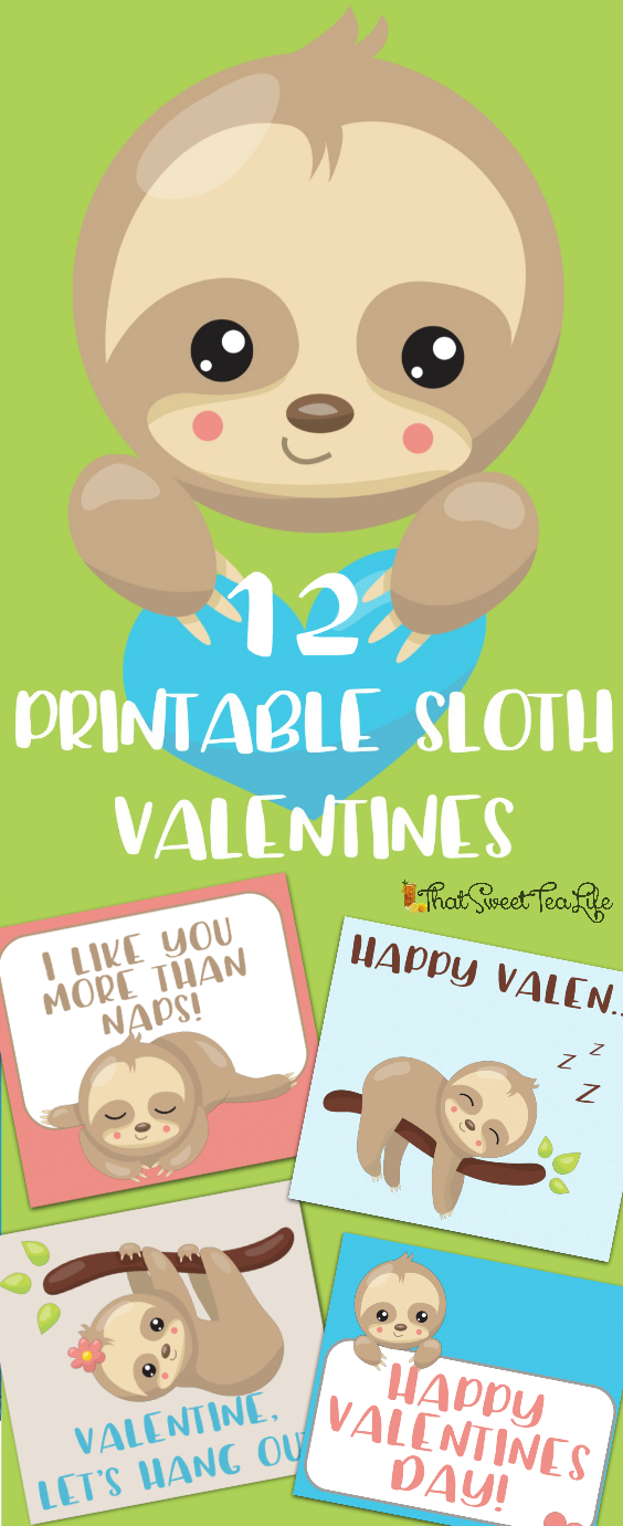 Printable Sloth Valentines P1111