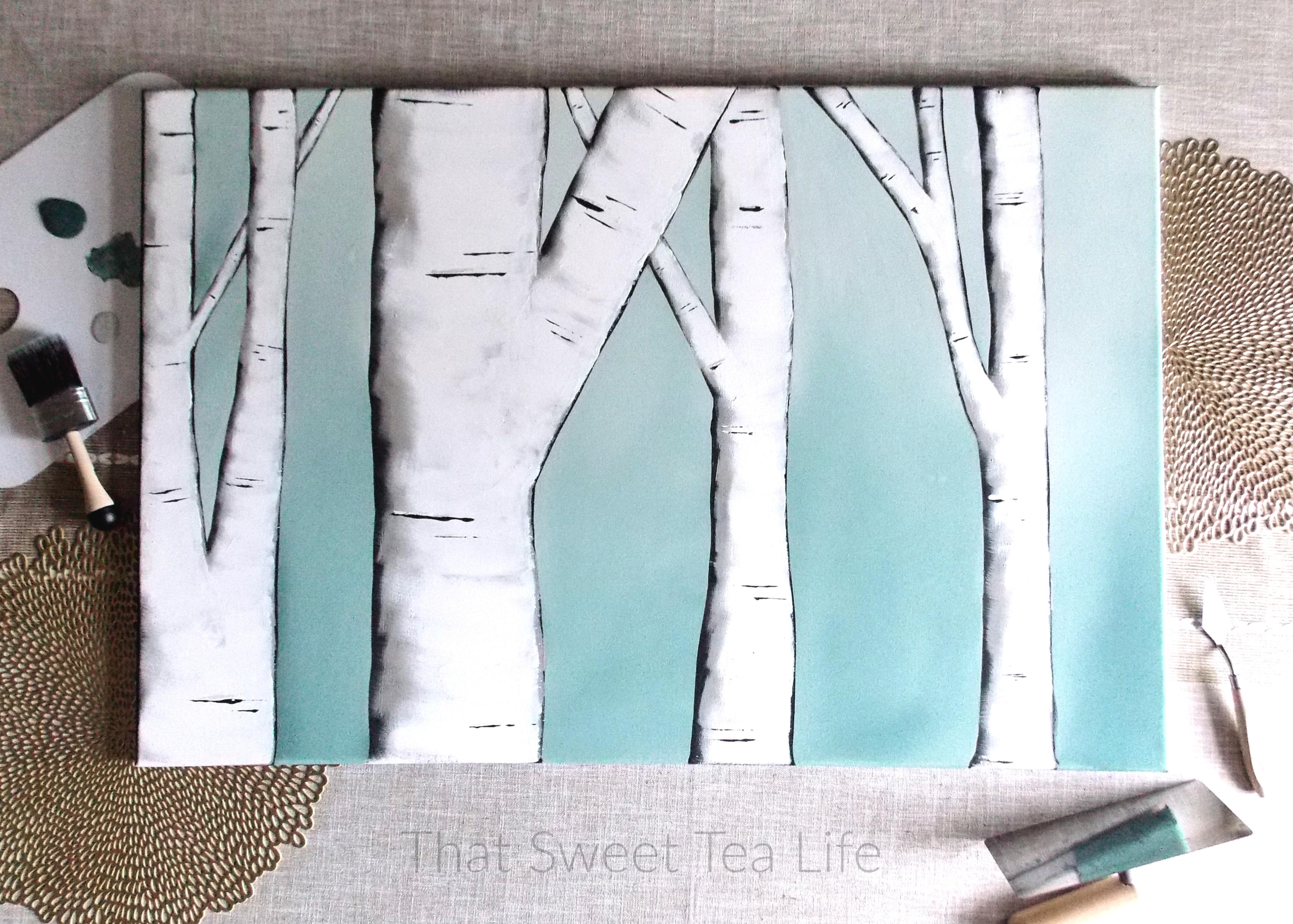 Create YOUR Custom Birch Trees Painting! 00018