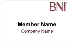 BNI Name Badge