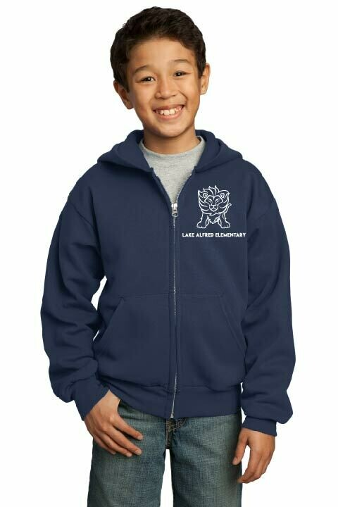 Essential Full Zip Youth Hooded Sweatshirts