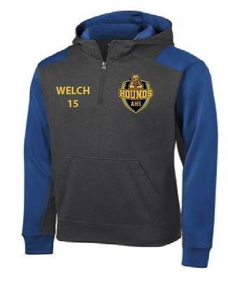 Sport-Tek Tech Fleece Colorblock 1/4-Zip Hooded Sweatshirt
