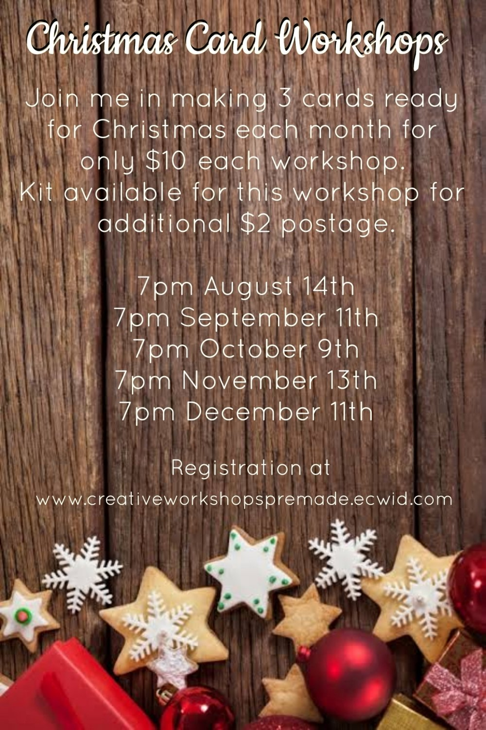 Christmas Card Workshop 11th December