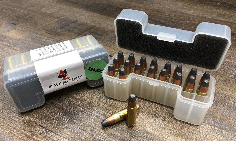 Black Butterfly Ammunition, Premium D-Series,  458 SOCOM, 500 gr, D500,  Hawk Bullets-Subsonic (1000 FPS)
