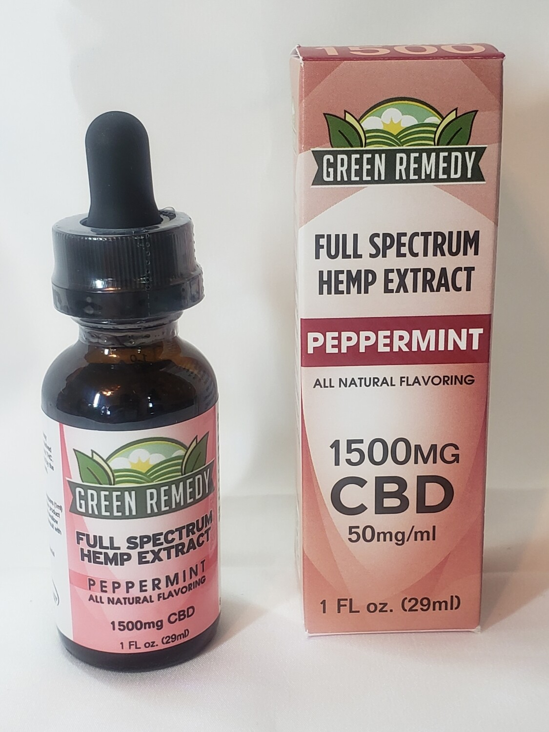 1500 Mg. Peppermint Cannabidiol from Hemp