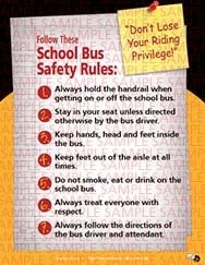 School Bus Safety Rules Sticker