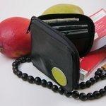 Recycled Inner-tube zip wallet