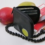 Recycled Inner-tube zip wallet