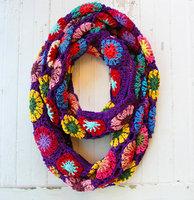 Flower Crochet Infinity Scarf