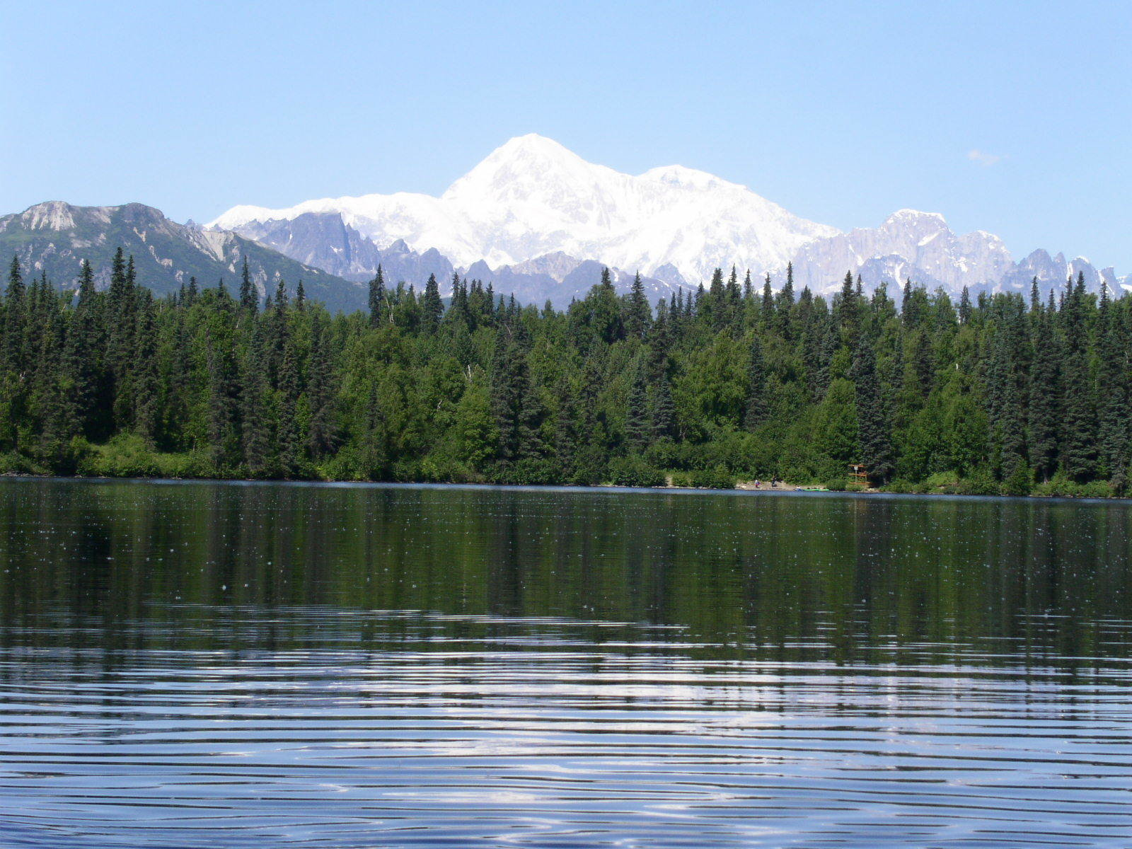 A view of Denali from Byers Lake