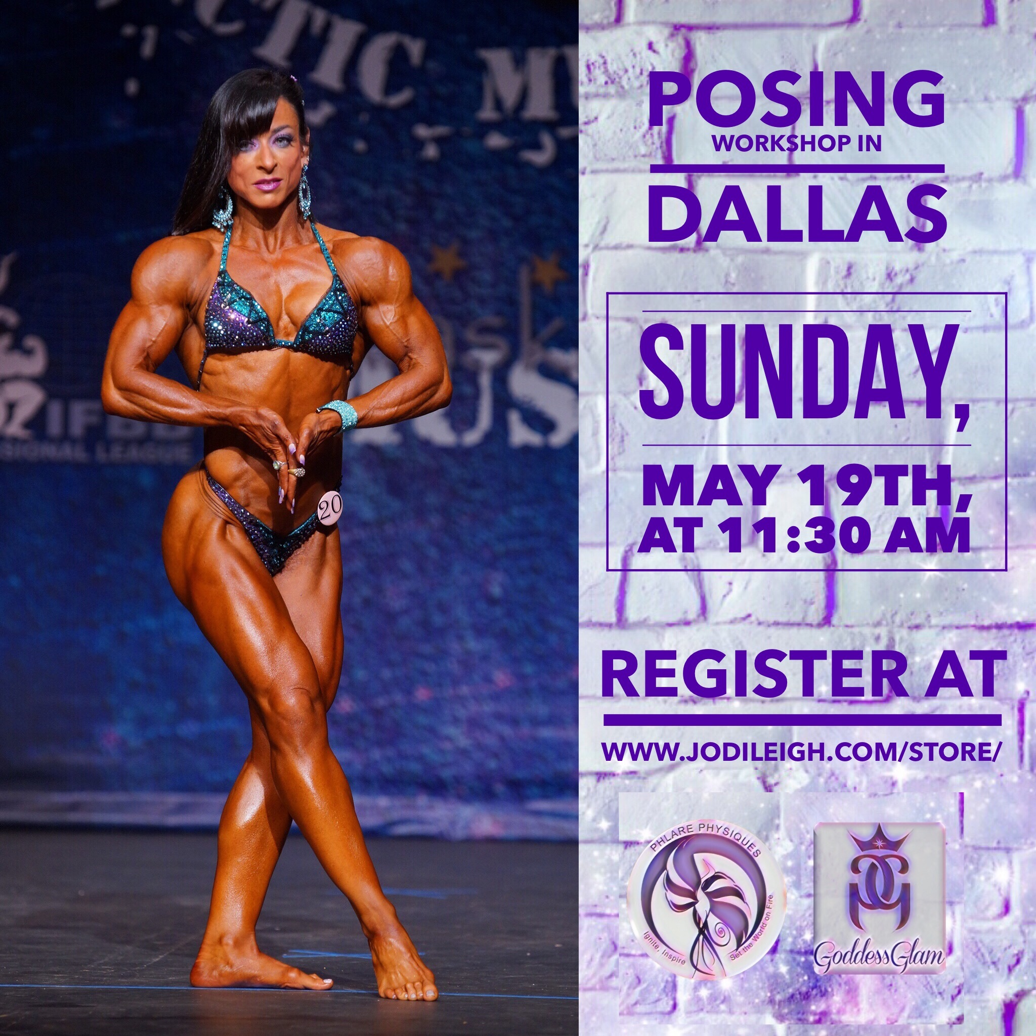 May 19th Posing Workshop with Jodi Leigh Miller, IFBB Pro - 90 Minutes in Length 00007