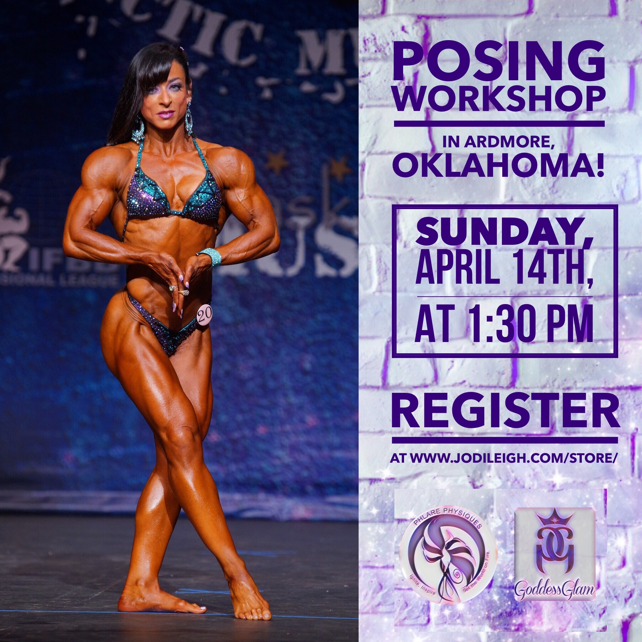 April 14th Posing Workshop in Ardmore, OK, with Jodi Leigh Miller, IFBB Pro 00008