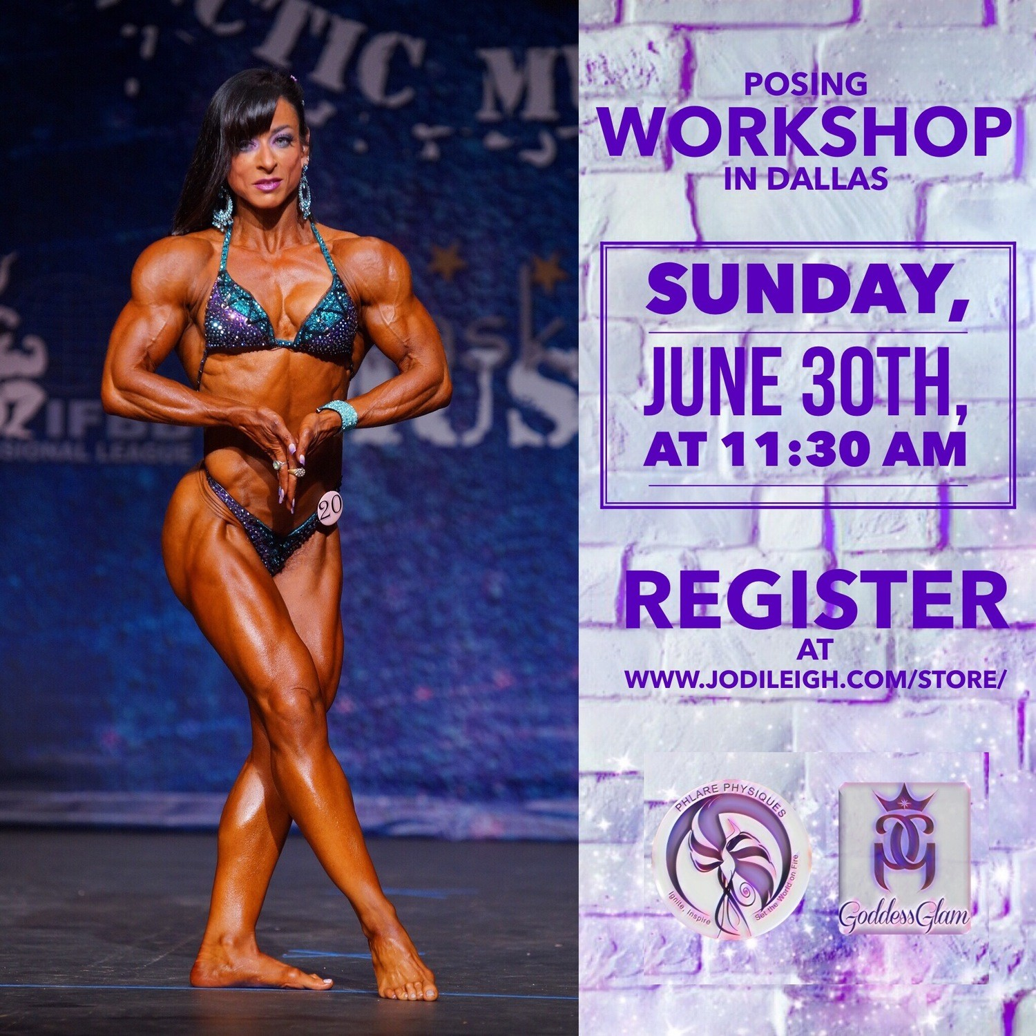 June 30th Posing Workshop with Jodi Leigh Miller, IFBB Pro - 90 Minutes in Length