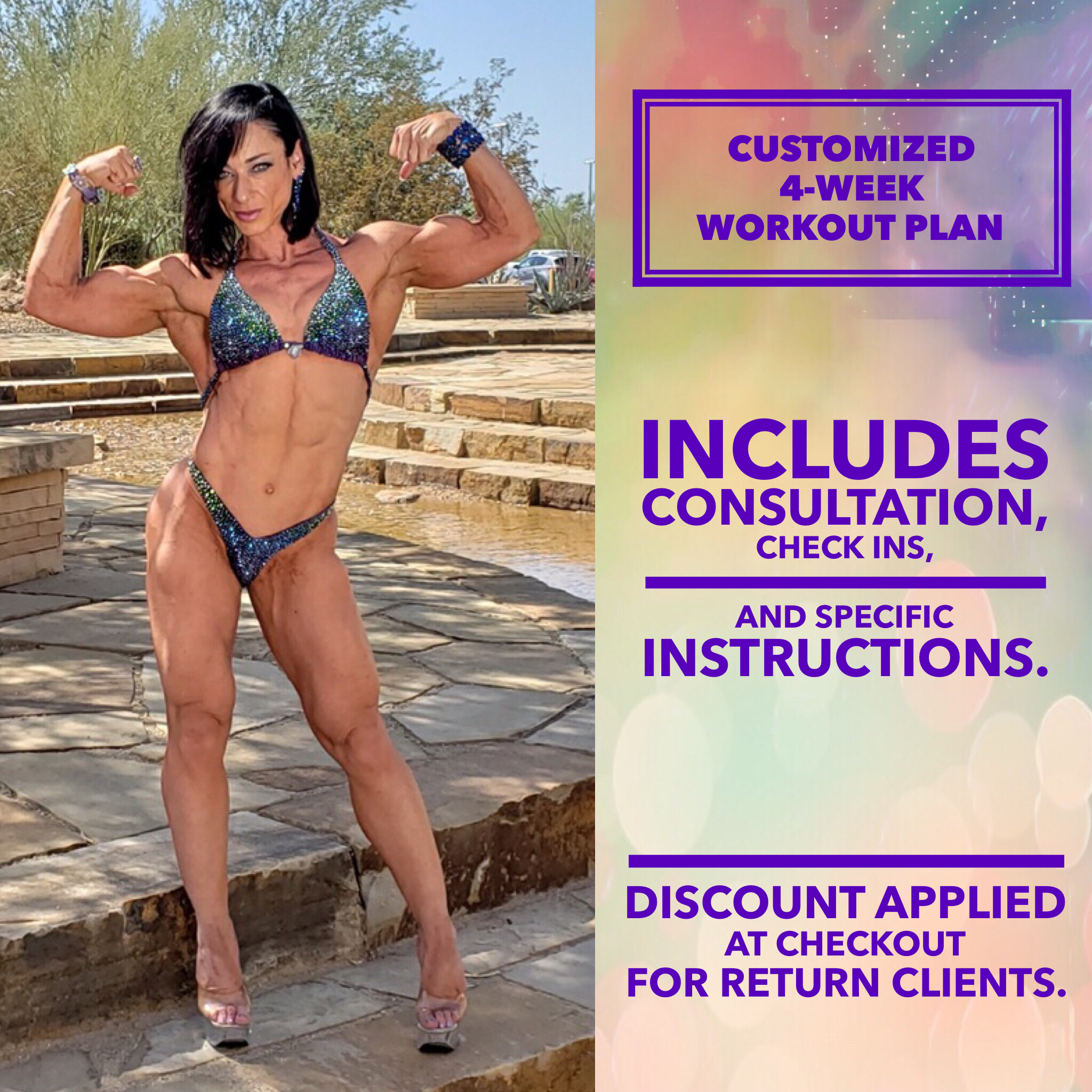 Customized, 4-Week Workout Plan with Face-to-Face (Online) Consultation, Check Ins, and Specific Instructions 00001
