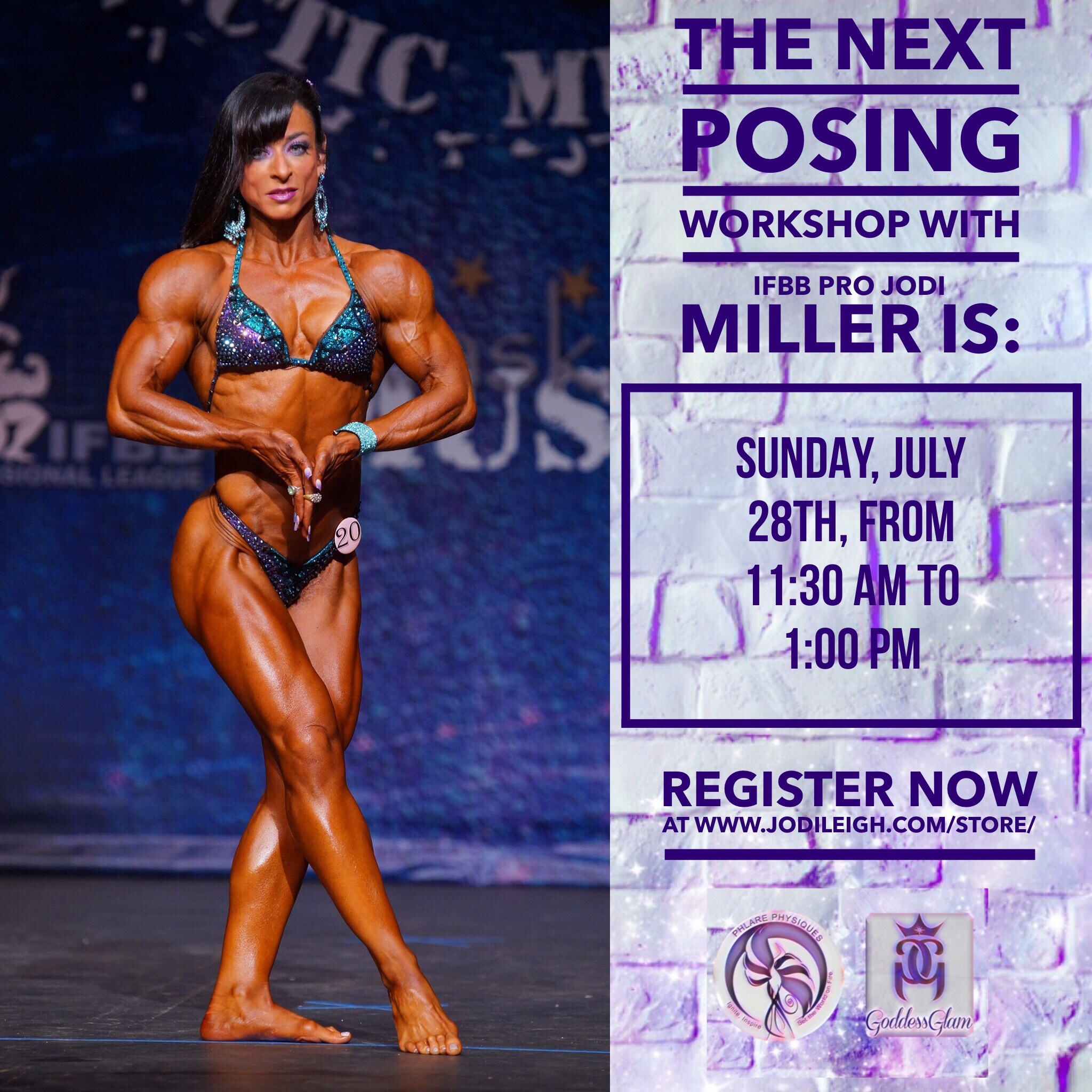 July 28th Posing Workshop with Jodi Leigh Miller, IFBB Pro - 90 Minutes in Length 00000