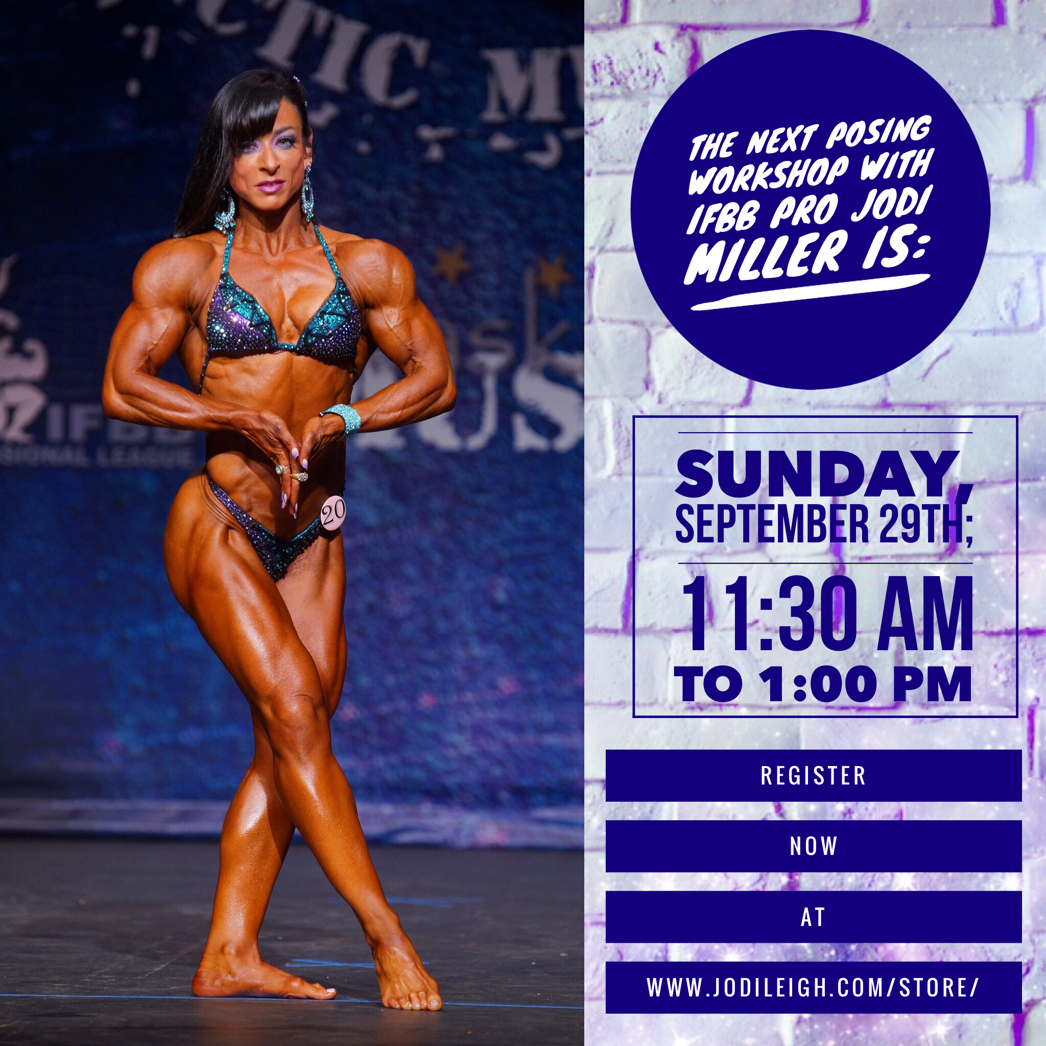 September 29th Posing Workshop with Jodi Leigh Miller, IFBB Pro - 90 Minutes in Length 00000
