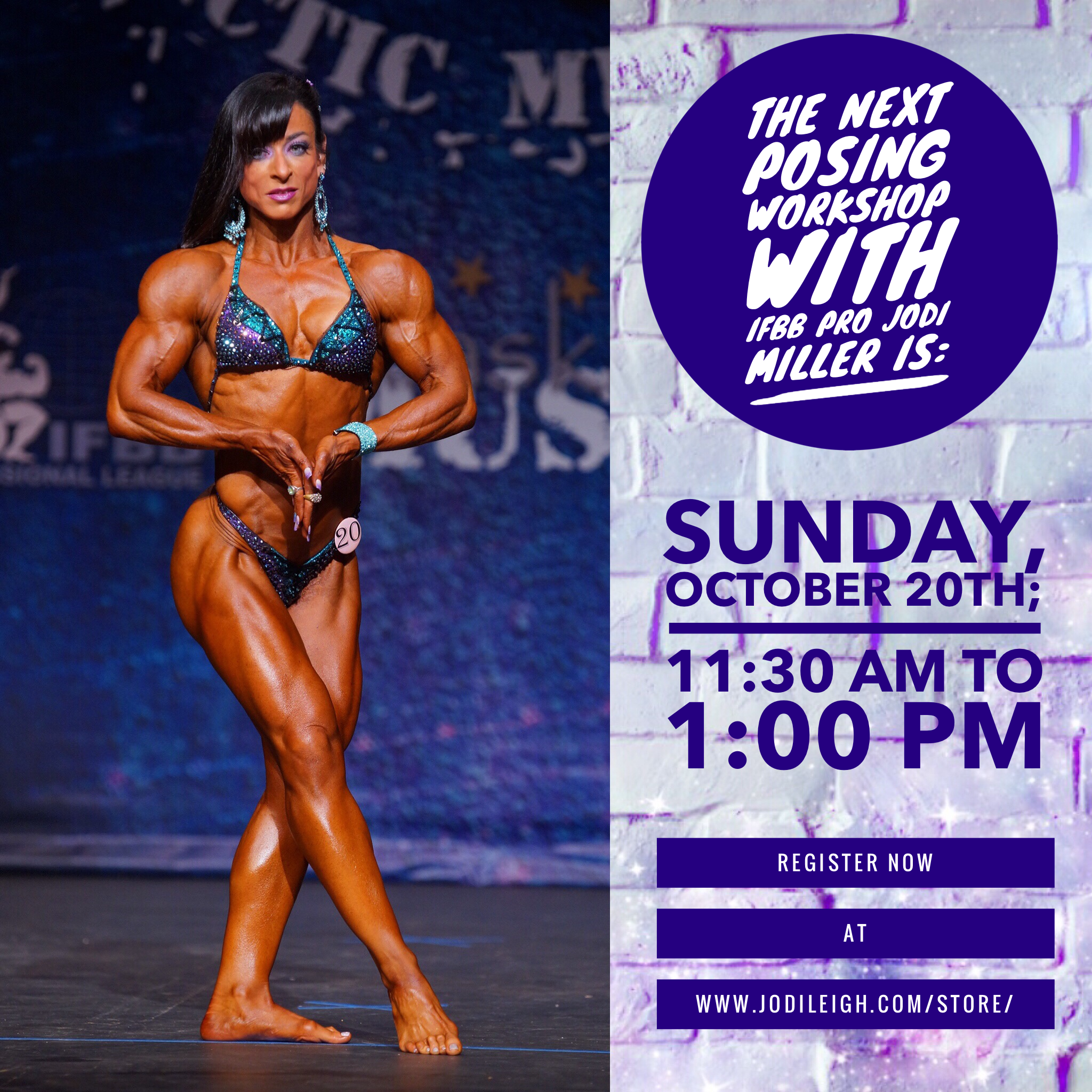 October 20th Posing Workshop with Jodi Leigh Miller, IFBB Pro - 90 Minutes in Length 00009