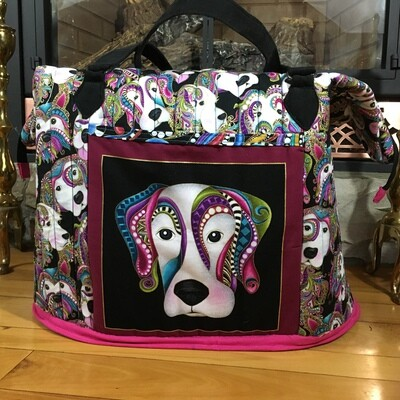 Overnight Bag Travel Tote Carry On Dogs