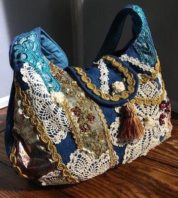 Denim & Lace Boho bag