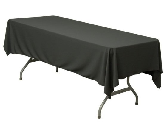 "Banquet Table Black 52"" x 114"""