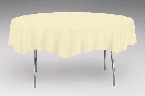 "Round Banquet Table White 85"" x 85"""