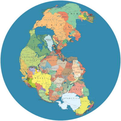 Real world globes shop dual pangaea globe with options gumiabroncs Image collections