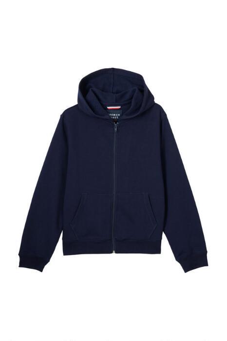 Full-Zip Hooded Sweatshirt with School Monogram