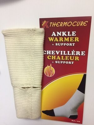 Chevillère chaleur (80% Laine /wool Fabriqué au: Made in : CANADA) Ankle warmer + Support)