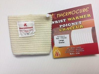 Poignet chaleur  80% Wool / Laine   Fabriqué au : Made in: CANADA) Wrist Warmer + Support  80% Wool